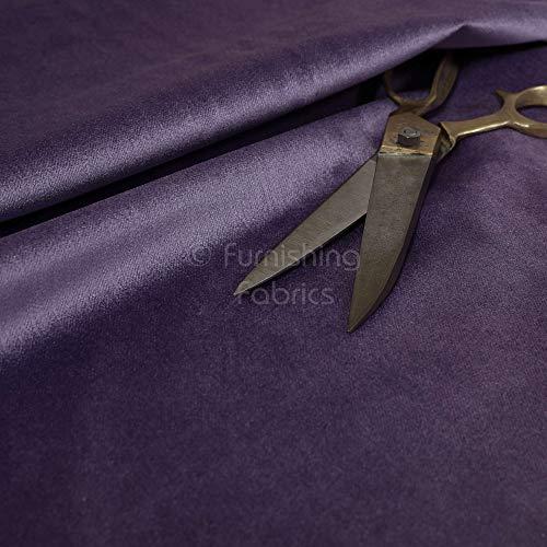 Möbelstoff, Violett, einfarbig, glatt, weich, glänzend, für Sofa-Vorhänge, Polsterstoff, 1 Meter, Textil, violett, 10cm x 8cm Sample