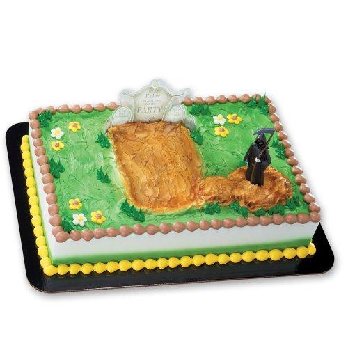 Grim Reaper and Gravestone DecoSet Cake Decoration
