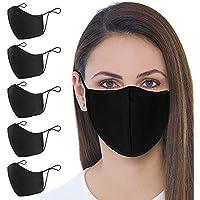 5-Pack Aonsen Unisex Cloth Washable Reusable Face Mask
