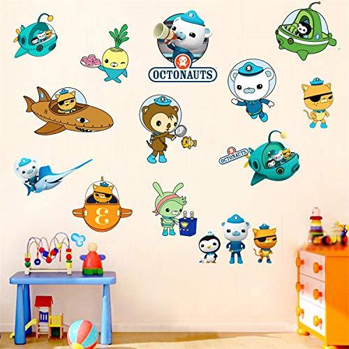 The Octonauts Wall Sticker Children's Cartoon Bedroom Background Wall Decoration Self-Adhesive Wall Sticker PVC