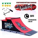 Samseed Kinder Finger-Skateboard-Set Skate Park Ramp Teile Mini Fingerboard Kit Spiel Requisiten -