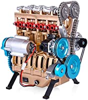 V4カーエンジンモデルミニアセンブル直列4気筒エンジンモデルテクノロジー愛好家と大人向け