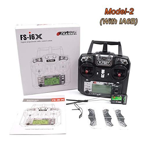 Drone Start Store Flysky FS-i6X 10CH 2.4GHz AFHDS RC Trasmettitore con Ricevitore FS-iA6B