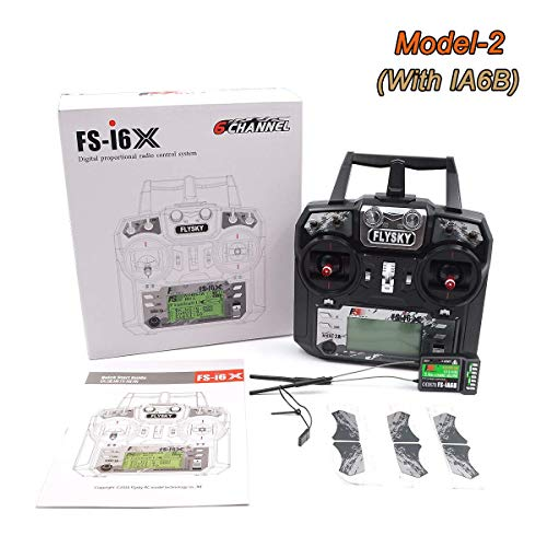 Drone Start Store Flysky FS-i6X 10CH 2.4GHz AFHDS RC Trasmettitore con Ricevitore FS-iA6B