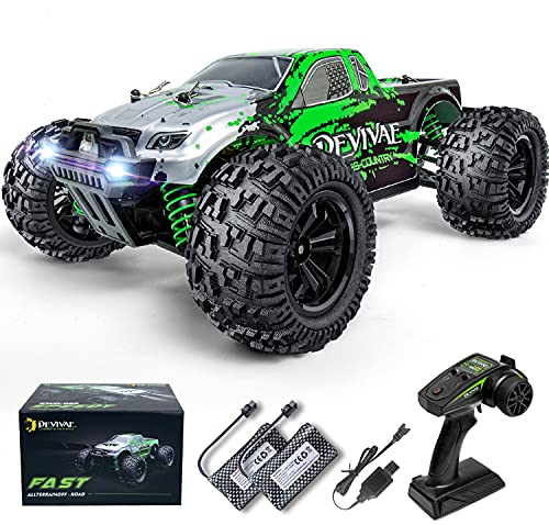 DEVIVAE RC CARS 005 High Speed Remote Control Car for Kids Adults 1:18 Scale 36 KM/H 4X4 Off Road Monster Drift Trucks, 2.4GHz All Terrain Electric Toy with 2 Batteries, 50 Mins Play Gift for Boy Girl