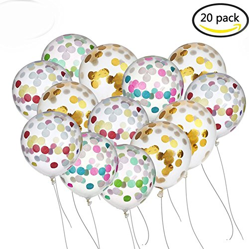 20 Stück 12 Inch Rose Gold Konfetti Luftballons Met 30 g Konfetti für Hochzeit Und Geburtstag Party Dekorationen Hochzeiten Valentinstag