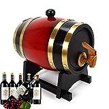 NZKW por Favor ContÁctemebarril Roble Vintage para Cerveza, Whisky, Ron, Madera Roble con Grifo, Barril Madera para Almacenamiento O Envejecimiento del Vino,10L