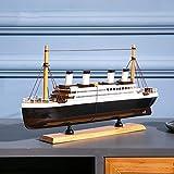 Maquetas De Barcos Kits De Modelo De Barco 40 * 21 Cm Con La Función De Almacenamiento Simulación Del Barco De Cruceros Clásico Modelo De Barco Terminado Sala De Estar Decoración Del Modelo De Barco