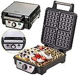 4er Waffeleisen | 1500 Watt | Waffelautomat | Paninigrill | Waffeltoaster | Waffle Maker | Elektrogrill | Wafflemaker