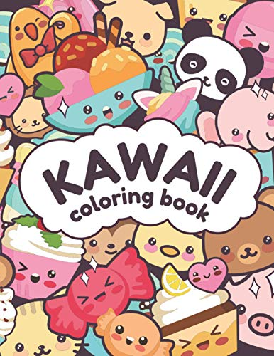 Kawaii Coloring Book: Kawaii Carino Libro da Colorare per bambini e adulti