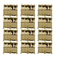 収納 12個セット キャンディボックス ギフトボックス プラスチック お菓子箱 DIY チョコレート ファッション 宝箱 パーティー チョコレート キャンディボックス 結婚式 好意ボックス ゴールド (Color : Gold)
