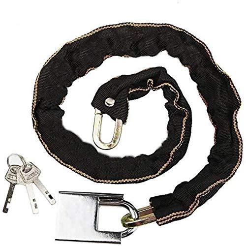 EUROXANTY® Kettenschloss aus Mangan-Stahl für Fahrräder, Scooter und Motorräder, robust, Diebstahlsicherung, 4 Modelle zur Auswahl, 8 mm dick