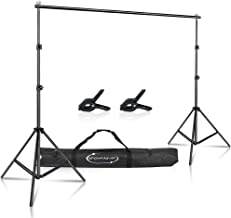 $29 » ShowMaven Background Stand, 6.4ft Height x 10ft Wide Adjustable Photo Backdrop Stand with Carry Bag for Photography Photo ...