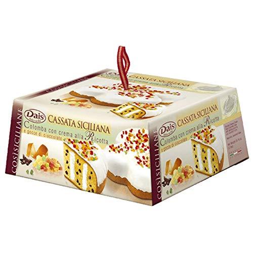 Dais Colomba italienischer Osterkuchen mit Ricotta-Creme und Schokoladenstücke 900 gr.