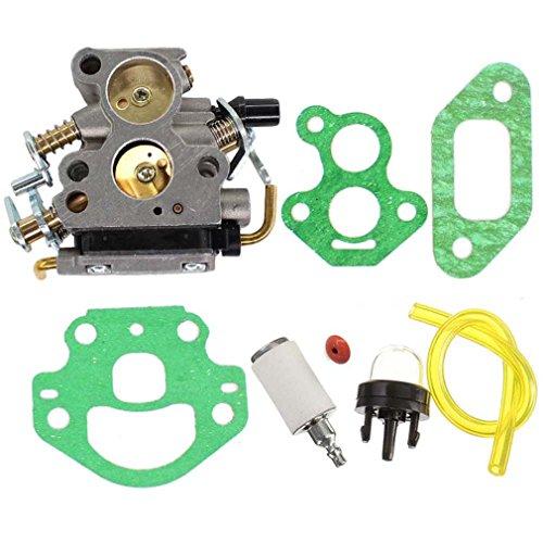 AISEN Carburateur et filtre à air Convient pour Husqvarna 235 235E 236 240 240E Avec pompe à essence et filtre à essence