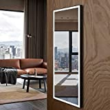 Makeup Wall-Mounted Mirrors, LED Backlit Frameless Wall Mirror, HotelBathroom Vanity Mirror with Touch Button, Anti Fog, Dimmable, Vertical & Horizontal Mount, 60 x 28 in (E-CK010-CG)