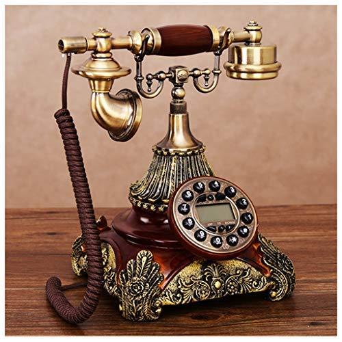Mevada oude enkele dubbele ring-telefoon van kunsthars, modieus, antiek, Europees retro, doek, creatieve draad (kleur: A)