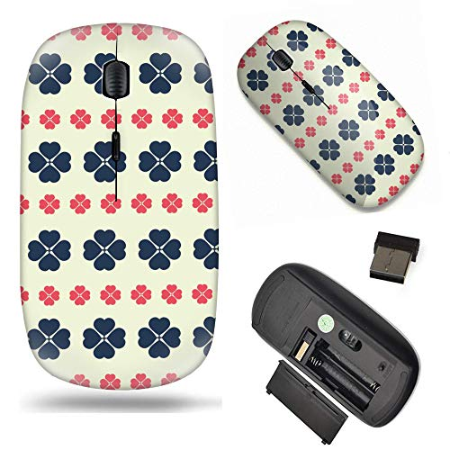S-Type Optical 2.4G Wireless Mouse with Nano Receiver - Shamrock Clover Pattern