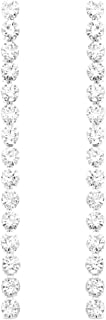 Rosemarie Collections Women's Hypoallergenic 6mm Crystal Rhinestone Extra Long Strand Drop Earrings