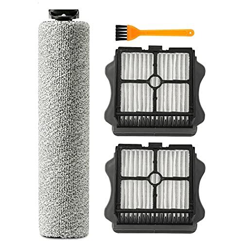 Odashen Rodillo de cepillo de repuesto y filtro de vacío, accesorios adecuados para Tineco IFloor 3/IFloor One S3 Aspiradora inalámbrica en seco húmedo