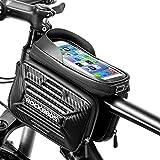 ROCKBROS Borsa Telaio Impermeabile Bici MTB Borsa Tubo Anteriore TPU Touchscreen Porta Cellulare Staccabile per Schermo 5.8/6.2 inch 2 Tasche Laterali Grande capacità 2L