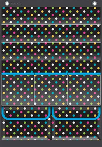 Teacher Created Resources Chalkboard Brights Place Value Pocket Chart (TCR20804) Photo #3