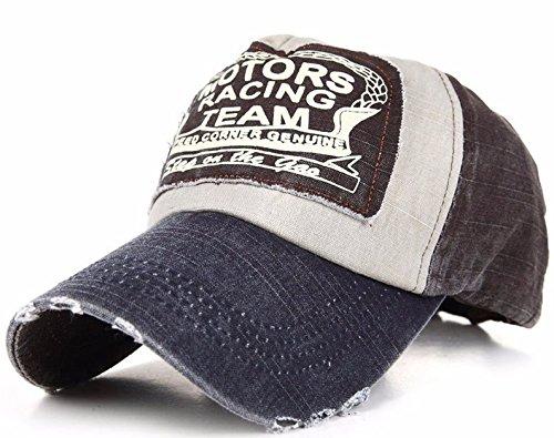 Baseball Cap Bonnet Chapeau Casquette Snapback A-Z Hip-Hop Snap Back Motors Racing Cotton Motorcycle (Brown Nave)