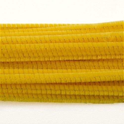 Vaessen Creative 1601-406 Pfeifenreiniger zum Basteln und Dekorieren, Cheniulle, Gelb, 30 x 0.6 x 0.5 cm, 25-Einheiten