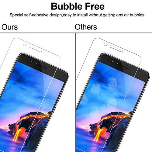 NONZERS Panzerglas Schutzfolie für Huawei Honor 8,Honor 8 Panzerglasfolie 9H Härtegrad, Anti-Öl, Kratzer,Staub, Blasen und Anti-Fingerabdruck, Displaychutzfolie für Huawei Honor 8 - 5