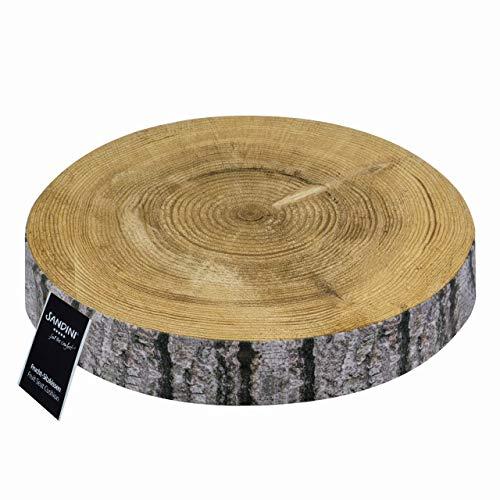 SANDINI Sitzkissen Holz, Obst, Gemüse – Dekoration für Haus und Garten – Bodenkissen für Kinder – 38 x 6 cm