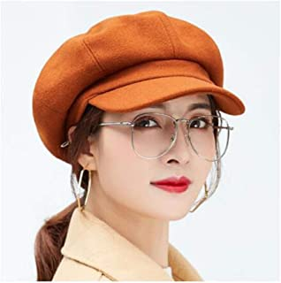 WYMAI Hat Female Autumn and Winter Fashion Wild Student Autumn Beret Winter Octagonal Cap Various Styles Simple and Practical Product (Color : Brown)