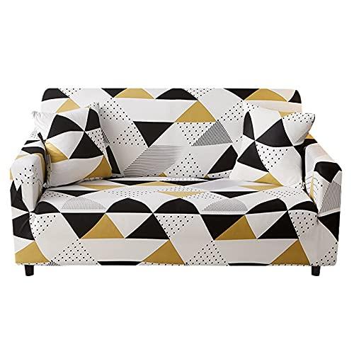 WXQY Funda de sofá de impresión elástica Universal, Funda de sofá de Sala de Estar de Esquina en Forma de L, Funda de sofá Todo Incluido A10 de 4 plazas