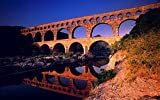 MX-XXUOUO Rompecabezas de 1000 Piezas Lugares Hermosos:Pont du Gard Languedoc Roussillon en Francia