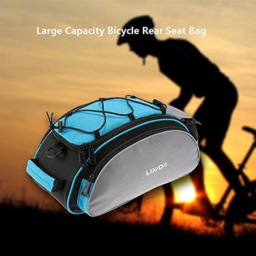 Lixada Fahrradtaschen Gepäckträger Wasserdicht Sitz Multifunktionale Tasche MTB Rennrad Rack Carrier 13L/25L - 2