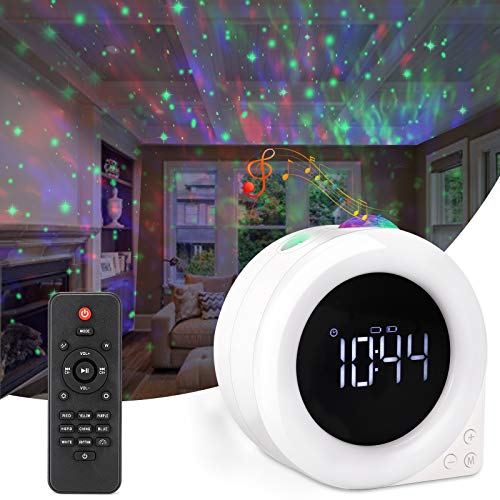 Star Projector, Galaxy Projector with Led Nebula Cloud,Star Light Projector with Bluetooth Speaker and Clock Remote Control for Kids Adults Bedroom/Party and Home Theatre