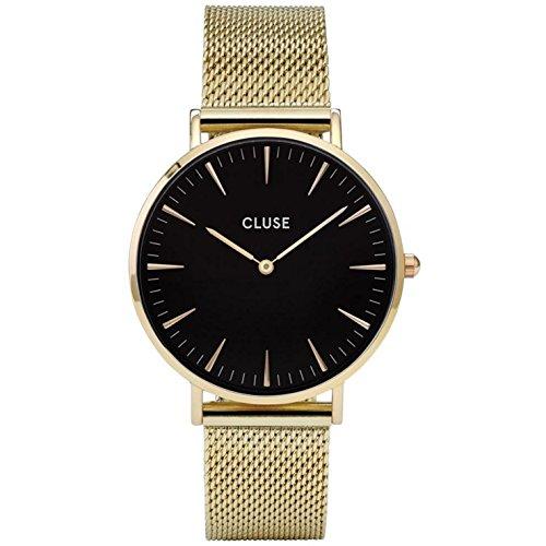 Correa para reloj Cluse La Boheme verde oliva y oro rosa, CLS035