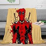 Coobal Deadpool Manta de forro polar, manta de felpa para adultos y niños