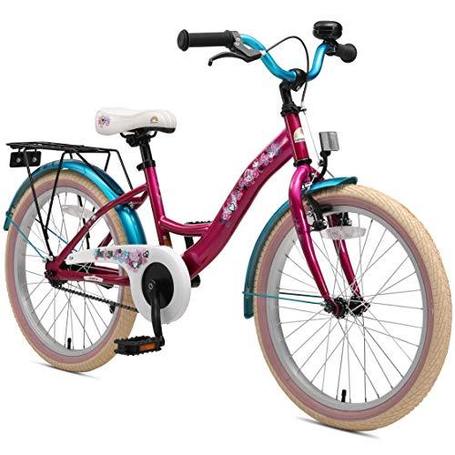 BIKESTAR Kinderfahrrad für Mädchen ab 6 Jahre | 20 Zoll Kinderrad Classic | Fahrrad für Kinder Berry & Türkis | Risikofrei Testen