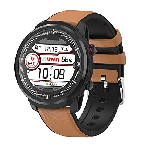 Reloj inteligente para mujeres y hombres, reloj de fitness con pantalla táctil completa de 1,3 ', Smartwatch a prueba de agua IP67, con frecuencia cardíaca, monitor de sueño, podómetro, cronómetro