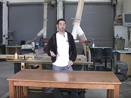 Arts and Crafts Table - Finishing