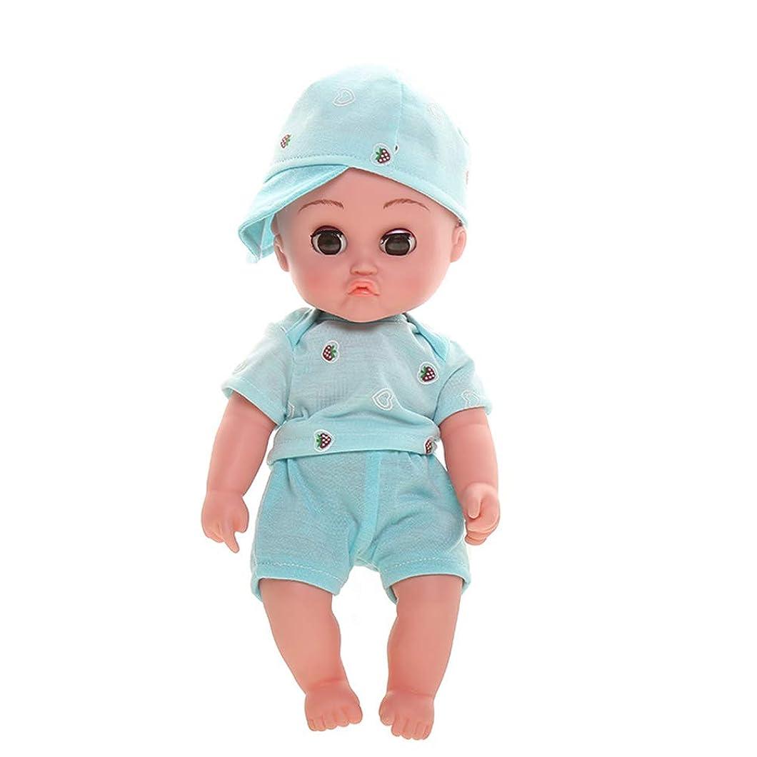 守る清める多数の3歳以上に適したリアルタイム式と運動新生児30センチメートル子供とリボーンベビードールラブリーリボーン人形ガール缶歌うソフトシリコーン赤ちゃん、,B