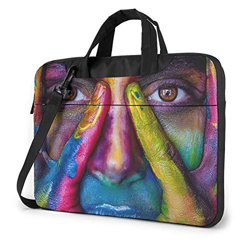 Laptop Case, Women Painting Art Print Laptop Shoulder Bags Multi-Functional Notebook Sleeve,13-14-15.6 Inch