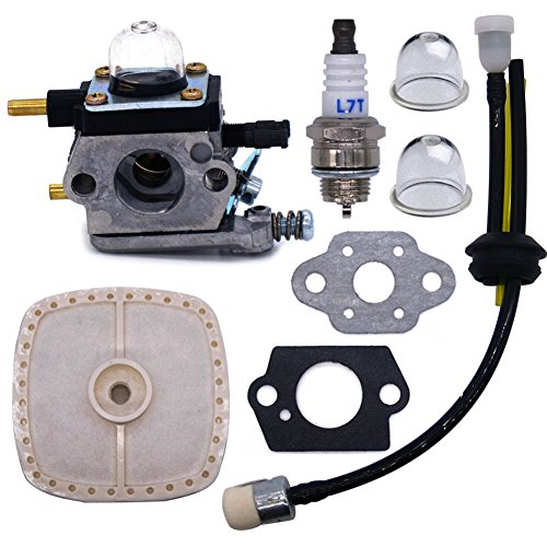 FitBest Carburetor for Zama C1U-K54A Mantis Tiller 7222 Echo 12520013123 12520013124 Carb with Repower Kit Spark Plug air Filter