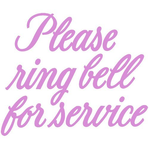 Please Ring Bell for Service 6 Inch Sticker Graphic - (Pink), 6 Inch Sticker Graphic - Vinyl Car Home Truck Window Laptop