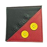 Monedero de Poliuretano de Mickey Mouse Premium, Rojo y Negro, de Disney.