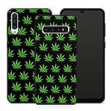 Handyhülle Cannabis für Samsung Silikon MMM Berlin Hülle Marihuana Weed Grass Hanf Canabis Bang, Hüllendesign:Design 5 | Silikon Schwarz, Kompatibel mit Handy:Samsung Galaxy A7 (2018)