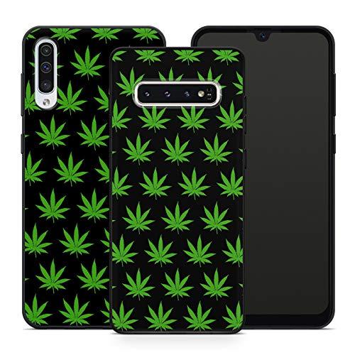 Handyhülle Cannabis für Samsung Silikon MMM Berlin Hülle Marihuana Weed Grass Hanf Canabis Bang, Hüllendesign:Design 5 | Silikon Schwarz, Kompatibel mit Handy:Samsung Galaxy A50