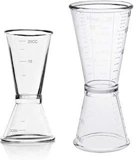 Vaso Medidor para Cócteles, JESSTOLO 2 Japonés Cocktail Jigger Dual Spirit Measure Cup 10ml/20ml & 20ml/40ml, para Bar y H...