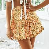 ShSnnwrl Robe Sexy été imprimé Floral Boho Sexy Mini Jupe Femmes Pansement Mode Taille Haute...