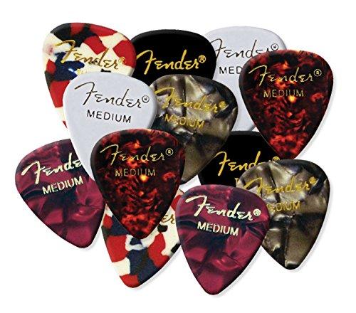 Fender púas de guitarra MIX-UP aleatoria color negro, rojo, blanco & confeti...